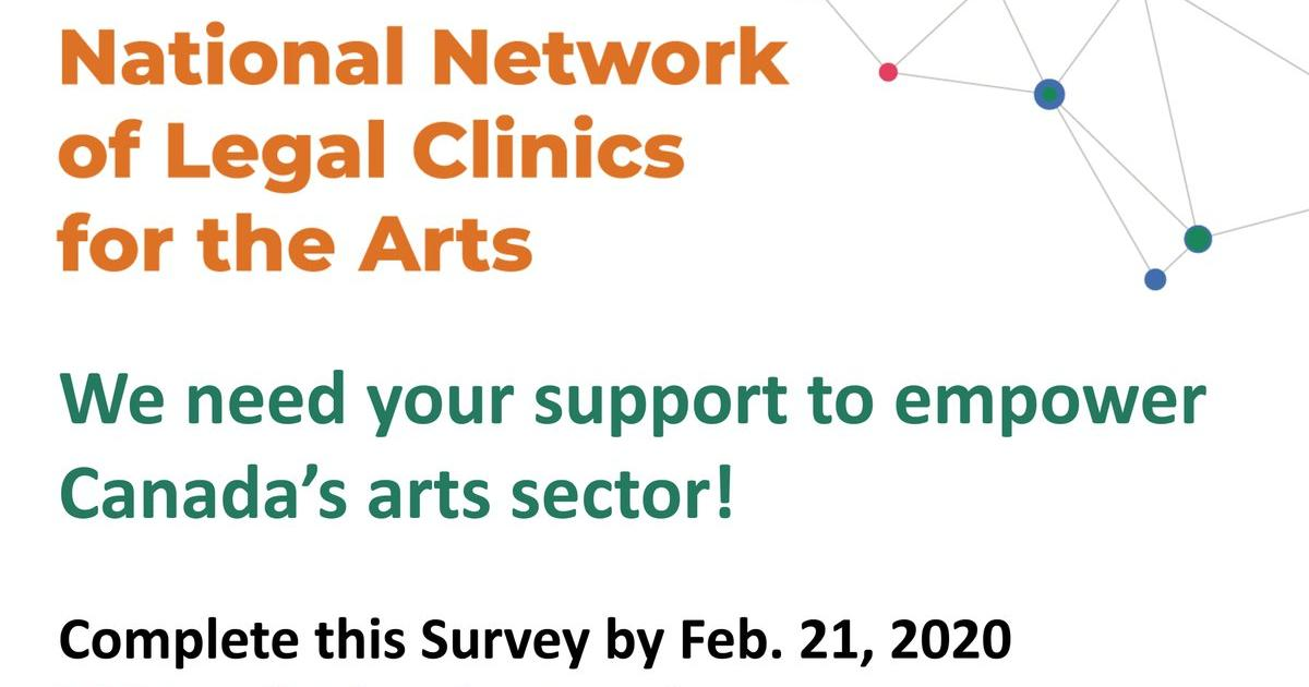 Link to  National Network of Legal Clinics for the Arts Survey