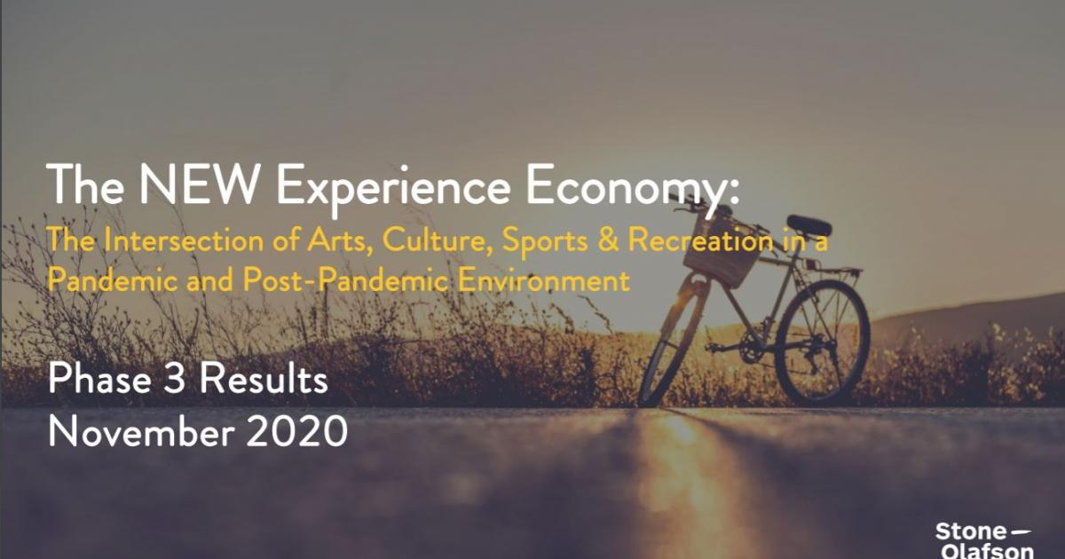 Link to Survey Results | The New Experience Economy - Wave 3