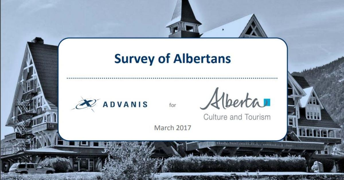 2017 Survey of Albertans on Culture now available