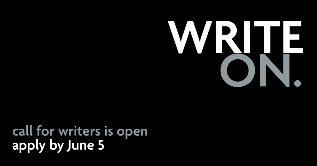Link to Write ON 2020: A themed writing workshop
