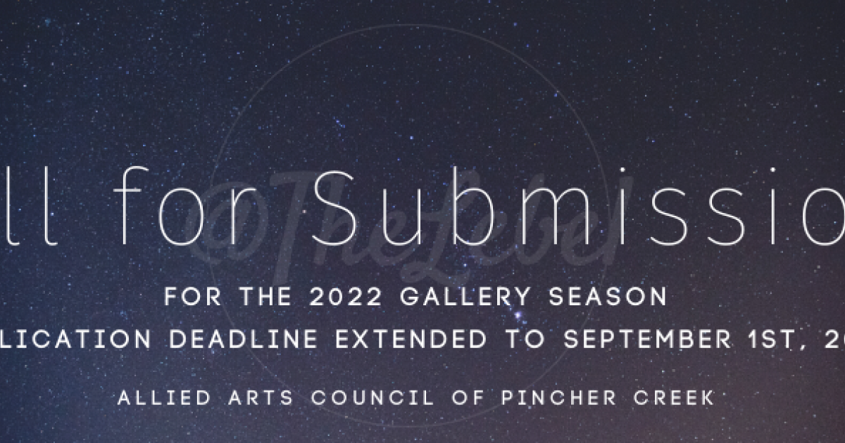 Link to Allied Arts Council of Pincher Creek- 2022 Gallery Season Call for Submissions Deadline Extended