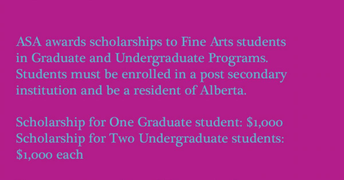 Link to Art Scholarships 2019 Alberta Society of Artists