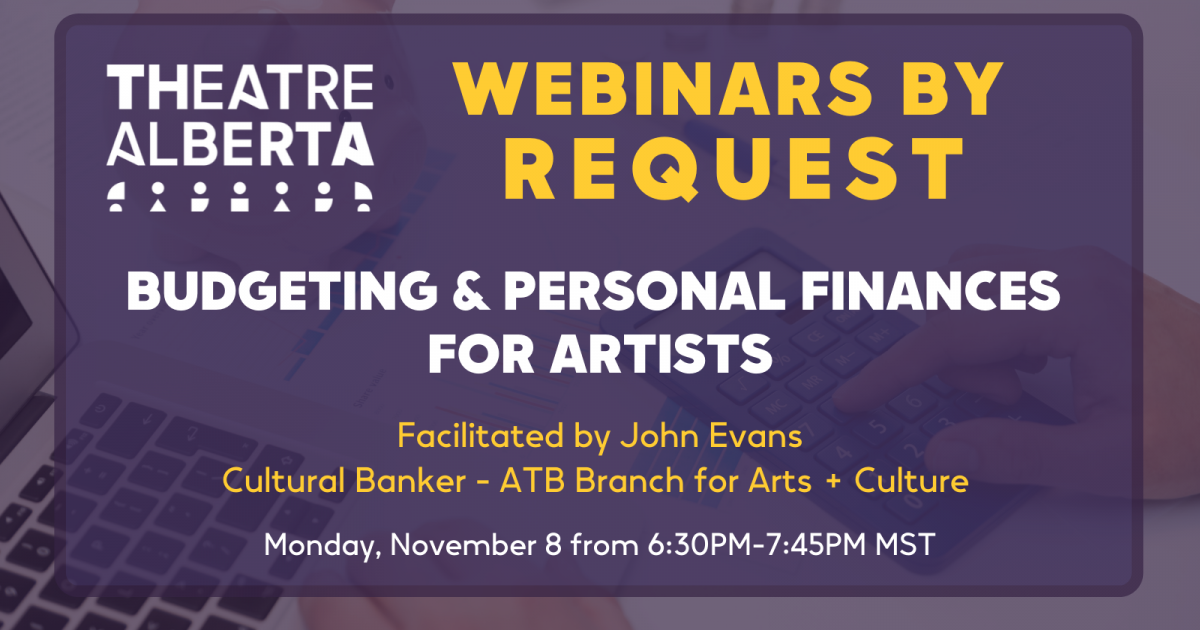 Link to Webinars by Request: Budgeting & Personal Finances for Artists