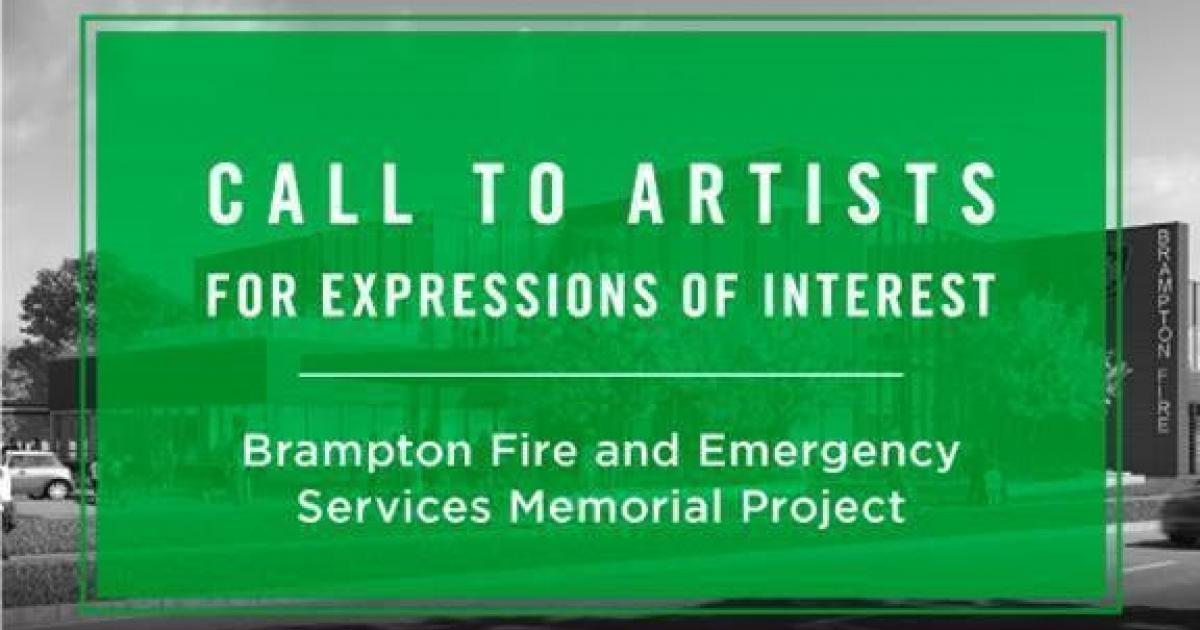 Link to Call to Artists for Expression of Interest: Brampton Fire and Emergency Services Memorial