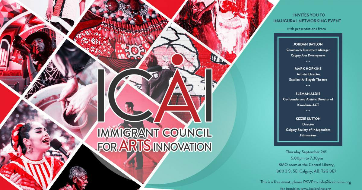 Link to Inaugural Networking event for Immigrant Council for Arts Innovation