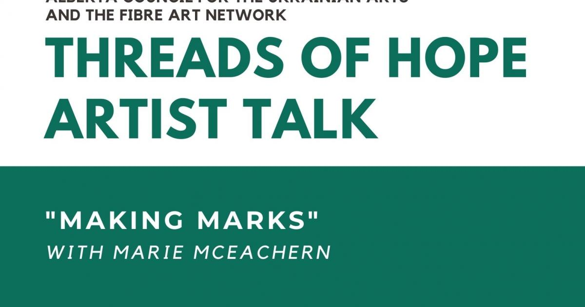 Threads of Hope Artist Talk with Marie McEachern and Marg Jessop