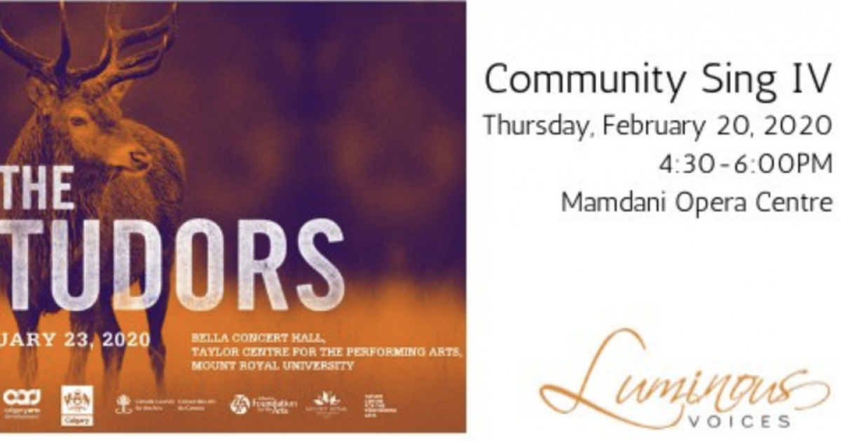 Link to Workshop | Luminous Voices Community Sing IV