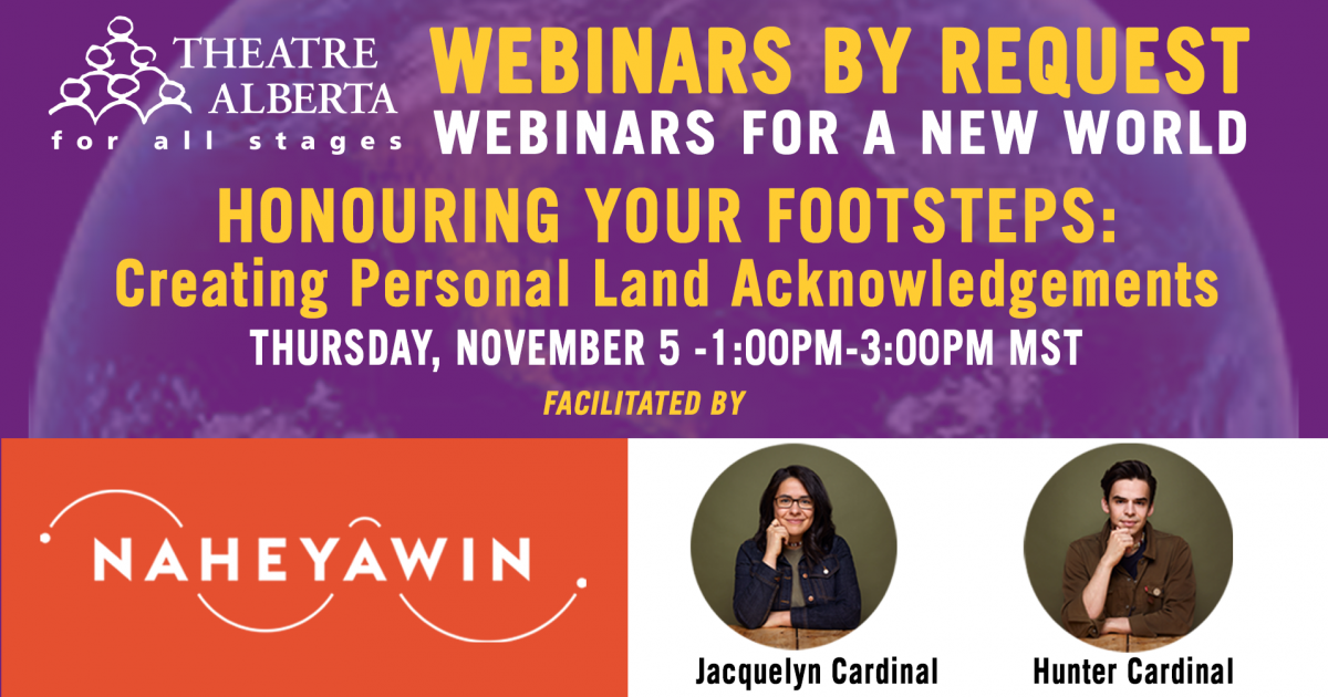 Link to Webinar | Honouring Your Footsteps: Creating Personal Land Acknowledgements