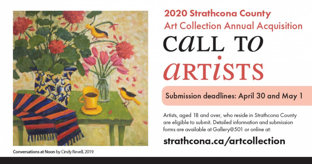 Link to Call for Submissions | Strathcona County Annual Art Acquisition