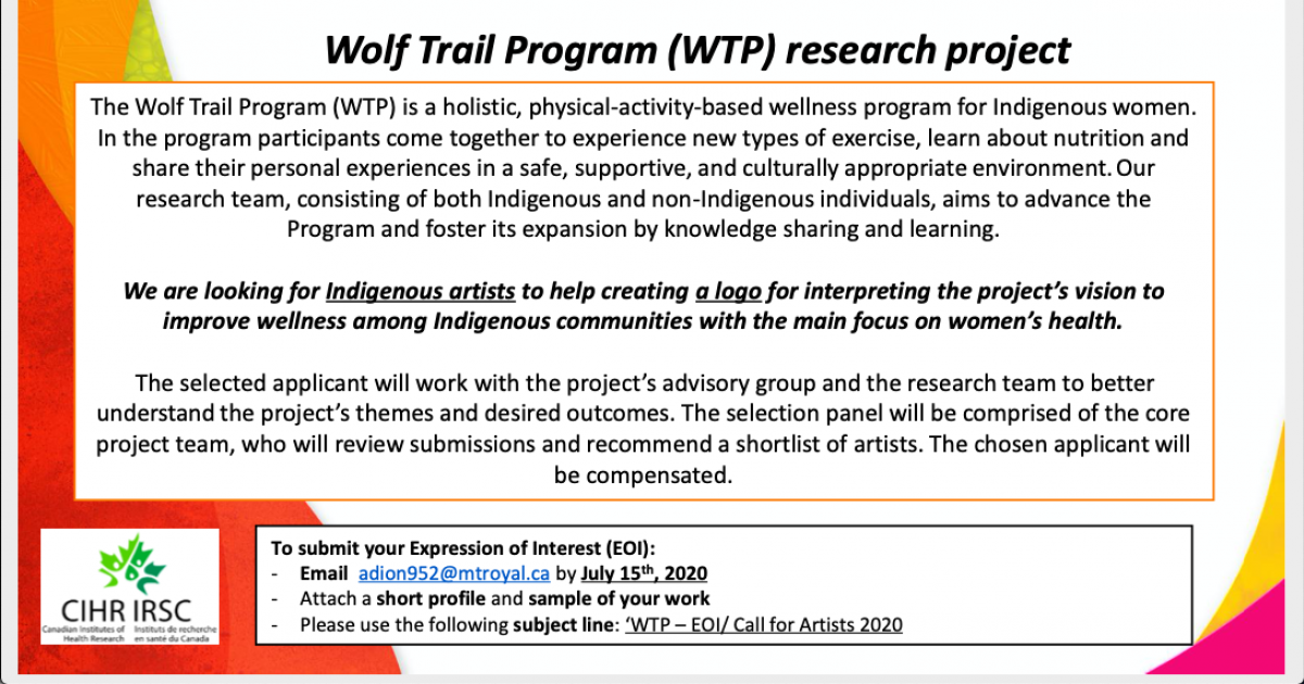Link to Call for Indigenous Artists | Wolf Trail Program Logo Design