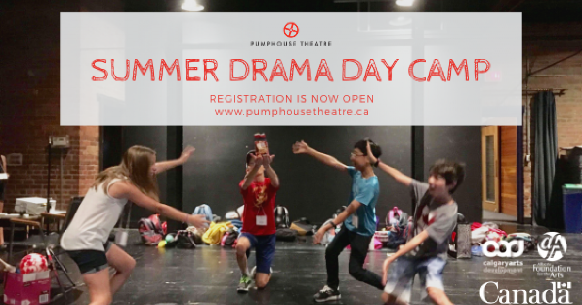 Link to Pumphouse Theatre Summer Drama Day Camps!