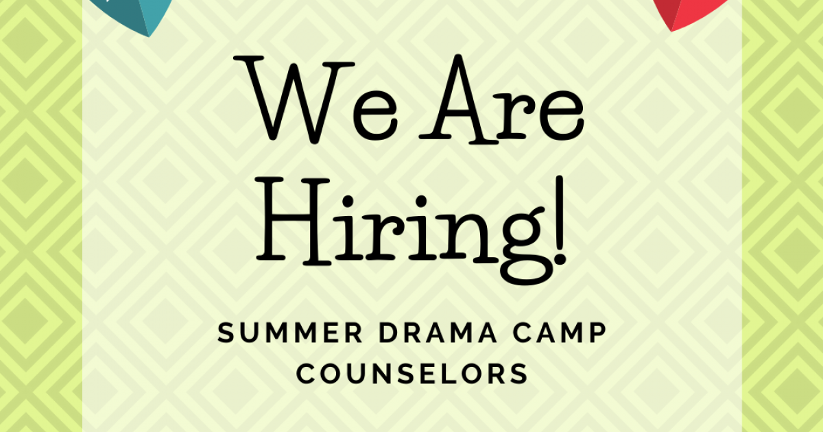 Pumphouse Theatre Summer Drama Day Camps Counselors