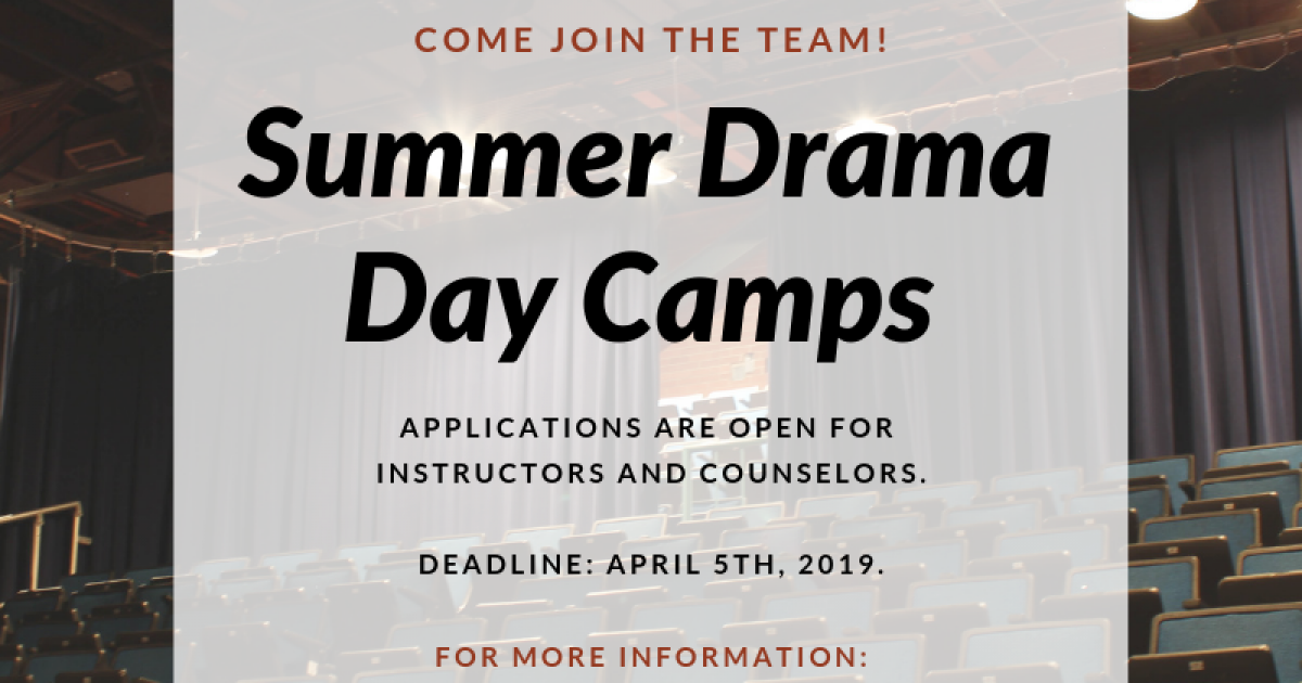Link to Job (Calgary): Summer Drama Day Camp Instructors - Pumphouse Theatre