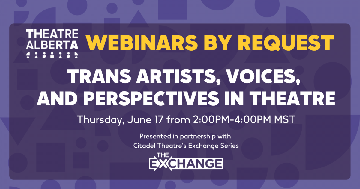 Link to Trans Artists, Voices, and Perspectives in Theatre