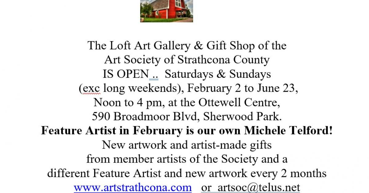 Link to The Loft Gallery & Gift Shop Reopens with Feature Artist Michele Telford!