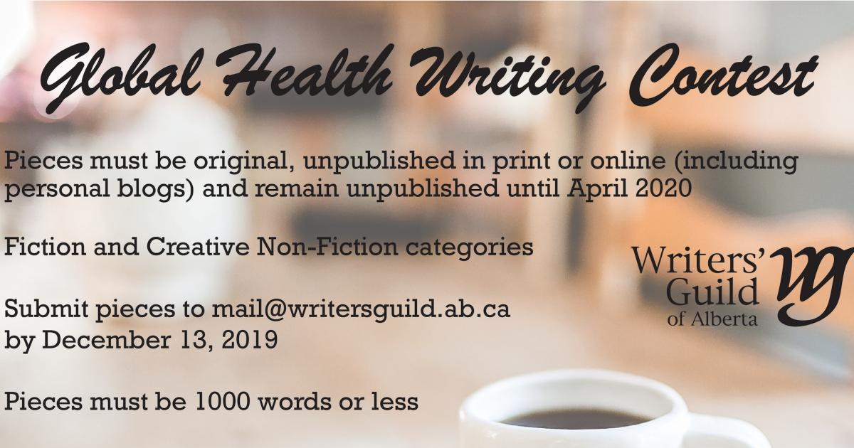 Link to Call for Submissions | Global Health Writing Contest