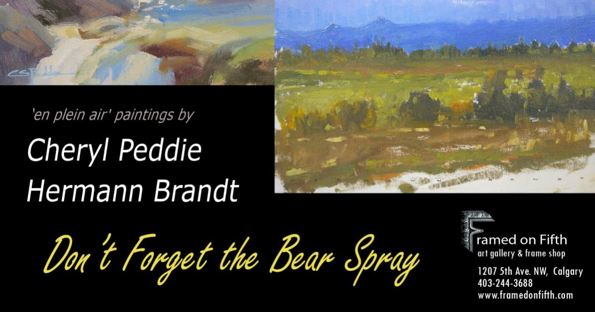 "Link to New Exhibition | ""Don't Forget the Bear Spray"""