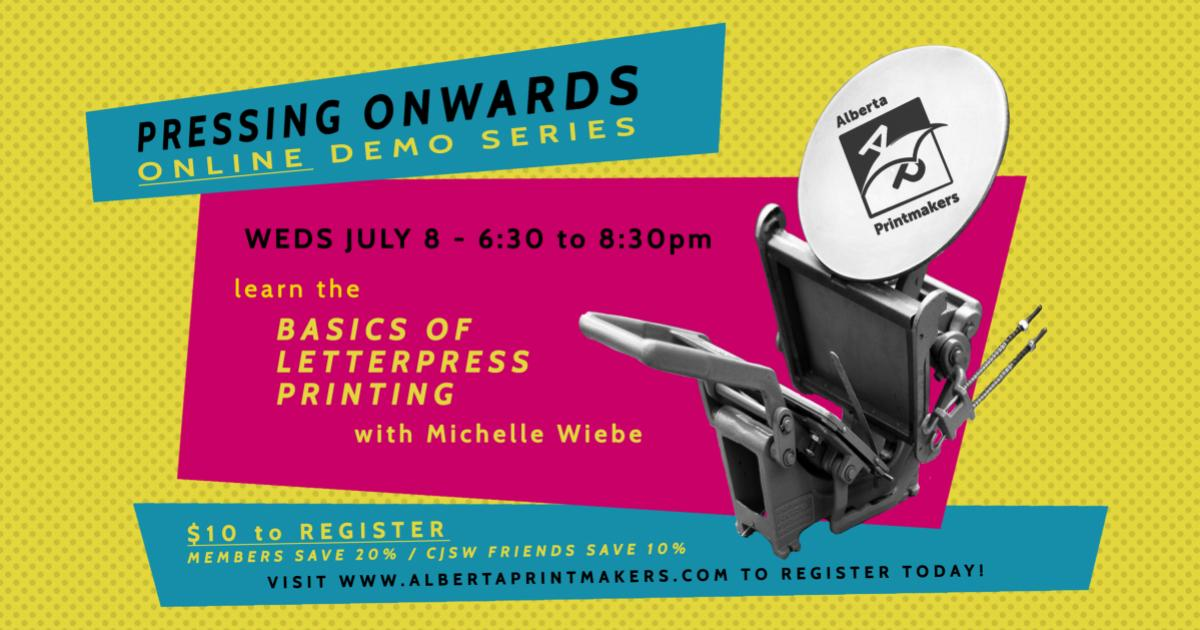 Link to Online Class | Pressing Onward: The Basics of Letterpress Printing