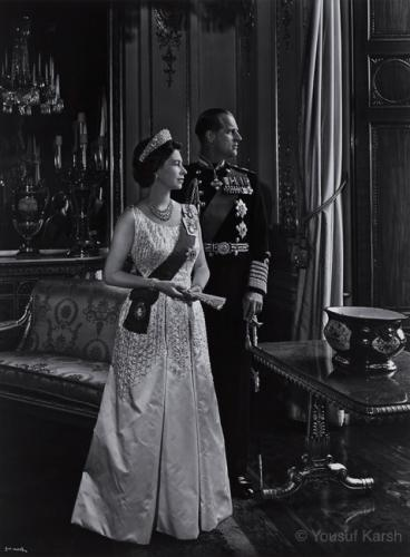 """QUEEN ELIZABETH II AND PRINCE PHILIP, 1966, FROM THE SERIES """"MEN WHO MAKE OUR WORLD"""""""