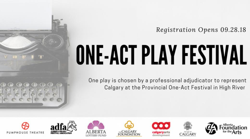 ADFA Calgary Region One-Act Play Festival: Submissions Open September 26th