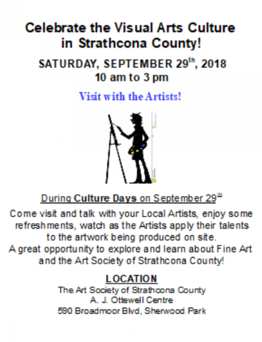 Alberta Culture Days - Visit With The Artists