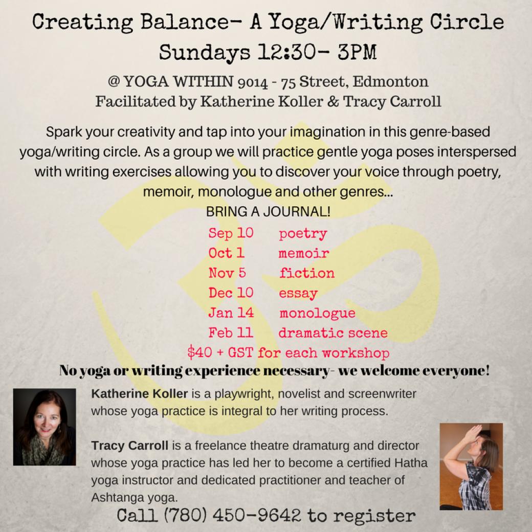 Creating Balance- A Yoga/Writing Circle