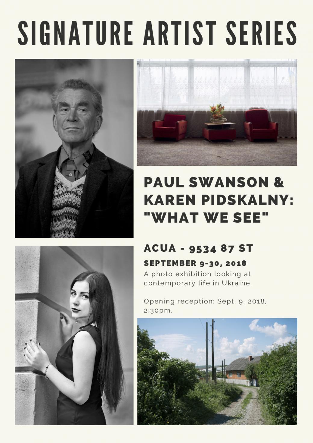"""What We See"" - Paul Swanson & Karen Pidskalny"
