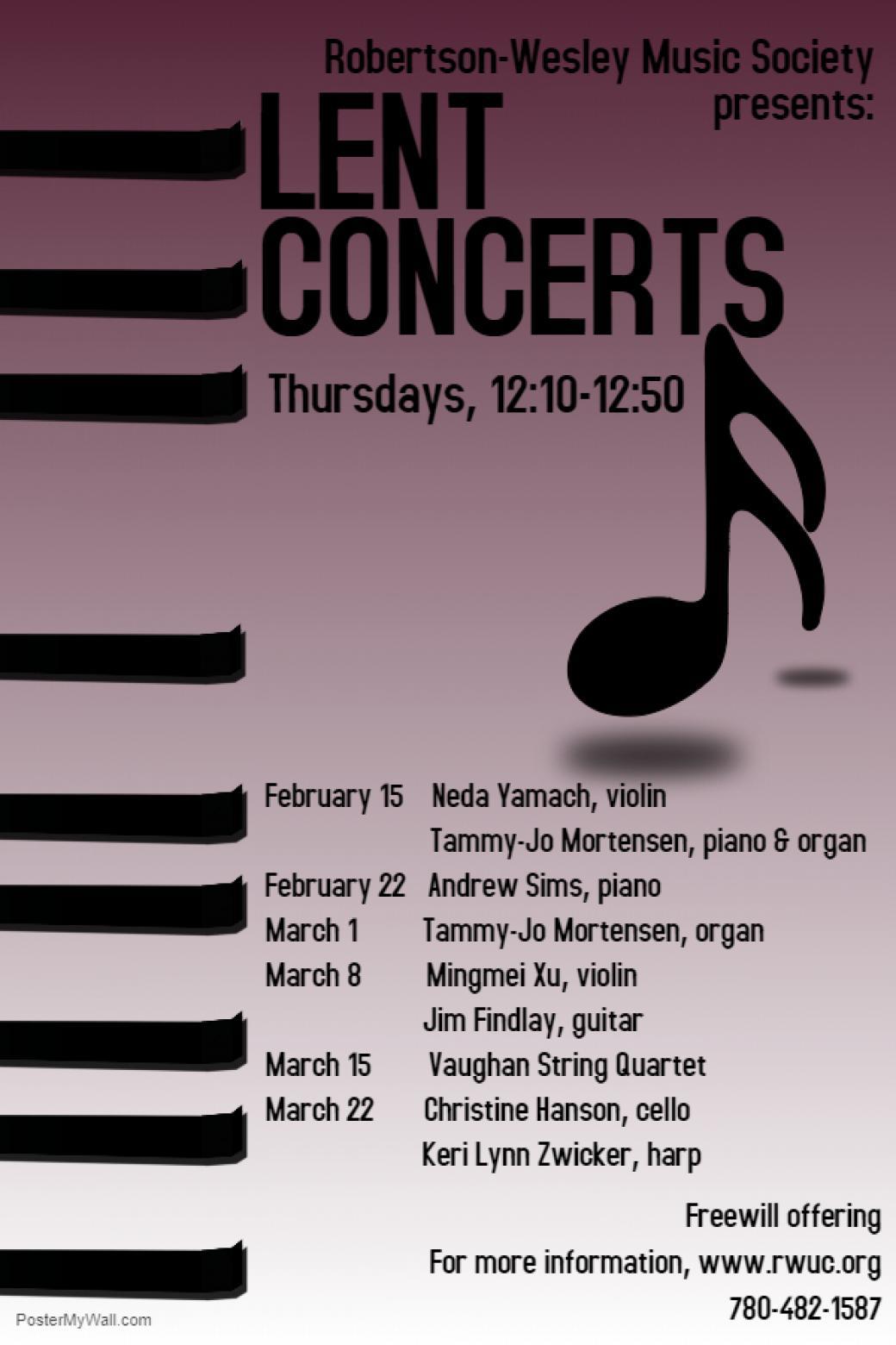 Lent noon hour concerts