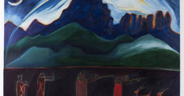 "Link to Work of the Week: ""Crowsnest Mountain and the Seven Sisters"" by  Joane Cardinal-Schubert"