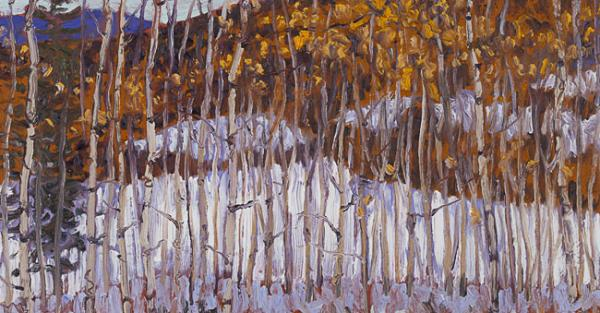 "Link to Work of the Week | ""October Snow, Foothills Morning"" by David More"