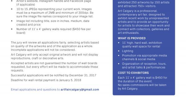 Link to Calgary Art Fair - Call to Artists