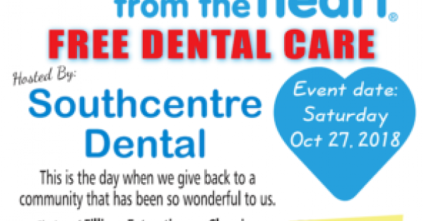 Link to Free Dental Care Event in Calgary at Southcentre Dental!