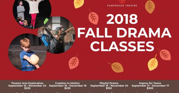 Link to Pumphouse Theatre Fall Drama Classes Accepting Registrations!
