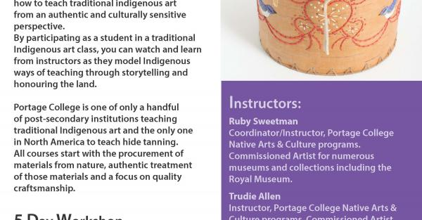 Link to Indigenous Art Center Master Teaching Workshop