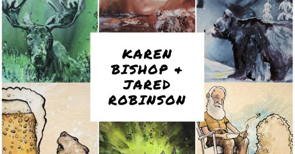 Link to Gallery Reception: Karen Bishop & Jared Robinson