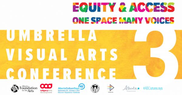 Link to Umbrella Visual Arts Conference 3 -  Equity and Access: One Space, Many Voices.