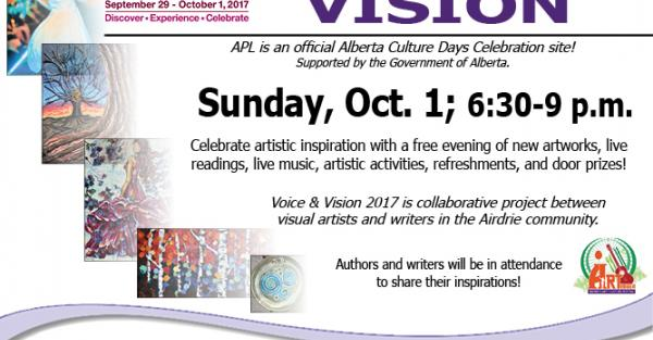 Link to Voice & Vision at Airdrie Public Library