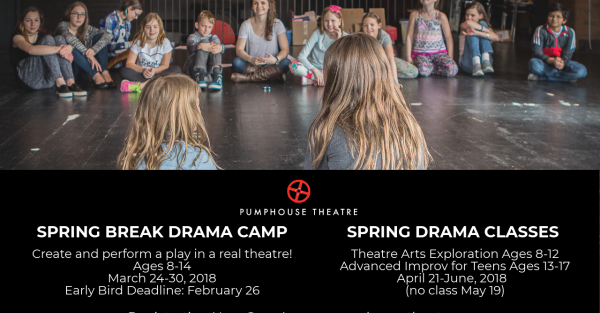 Link to Pumphouse Theatre Spring Break Camp and Spring Classes Now Accepting Registrations!